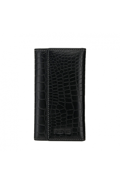 Rene Black Genuine Leather Slim Key Case