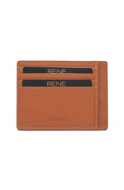 Genuine Leather Tan Card Holder