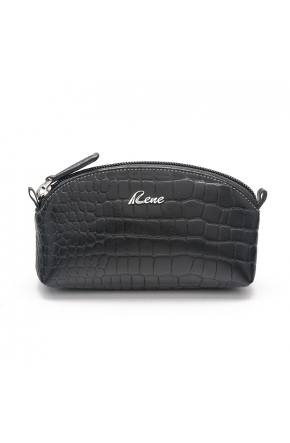 Genuine Leather Black Coin Pouch