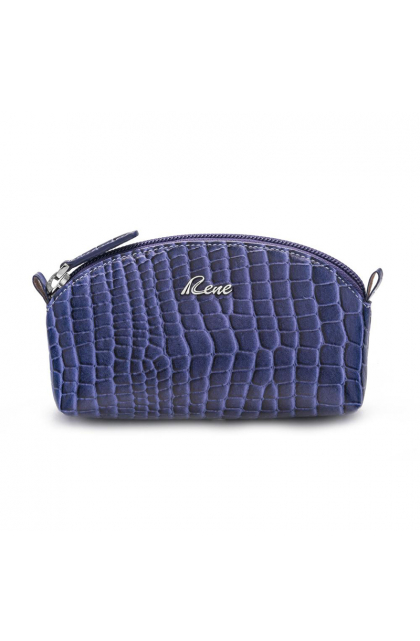 Genuine Leather Royal Blue Coin Pouch
