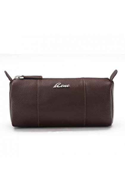 Genuine Leather Brown Vanity Pouch