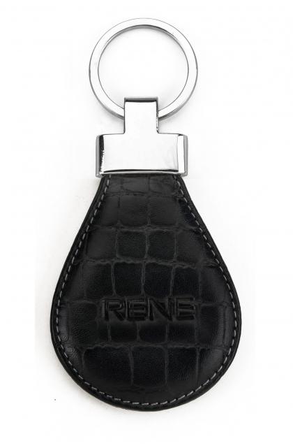 Black Genuine Leather Key Ring