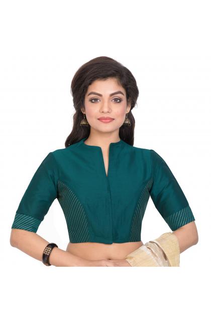 Seagreen Cotton Silk  Blouse