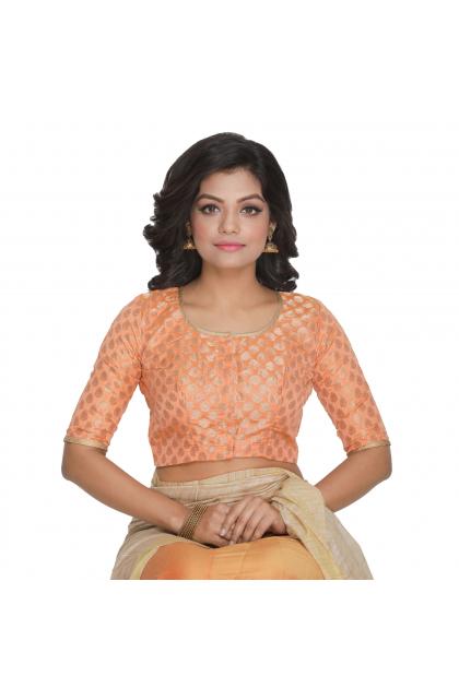 Orange Chanderi Blouse