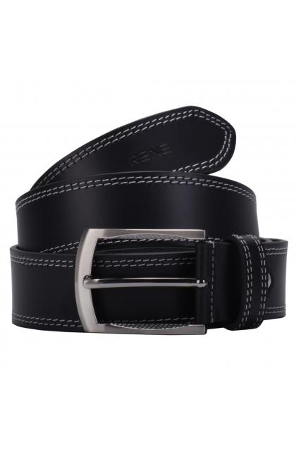 Rene Genuine Leather Black Casual Belt