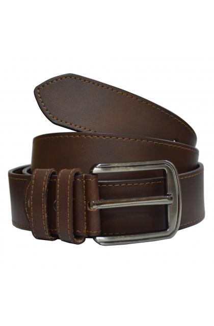 Rene Genuine Leather Brown Casual Belt