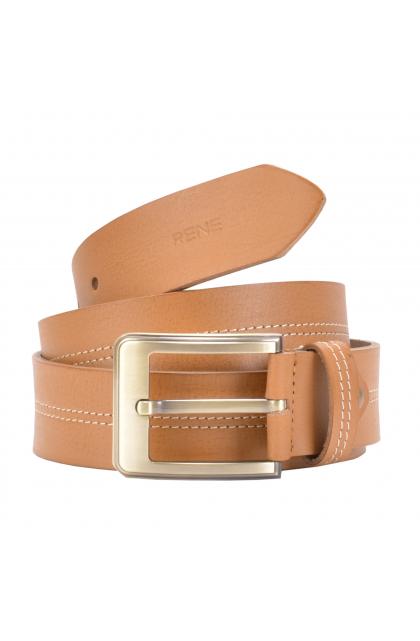 Rene Genuine Leather Tan Casual Belt