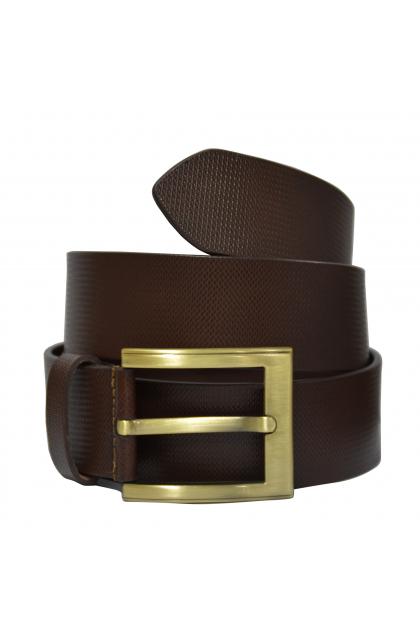 Brown Genuine Leather Casual Men's Belt