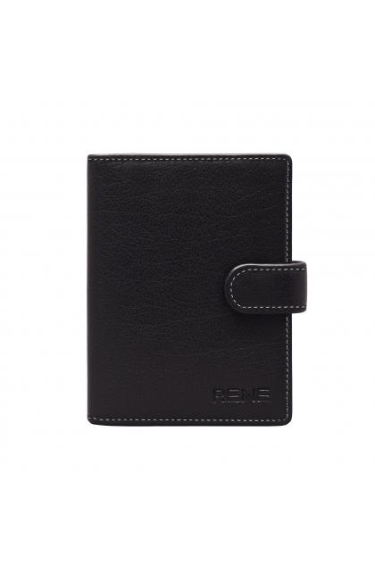 Genuine Leather Black  Mutli Purpose Card Holder