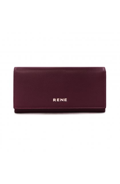Genuine Leather maroon  Ladies Wallet