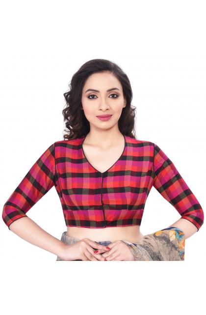 multi coloured printed blouse