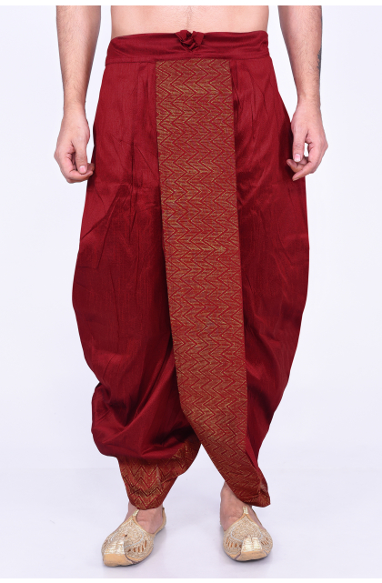 Ready to wear dupion silk dhoti