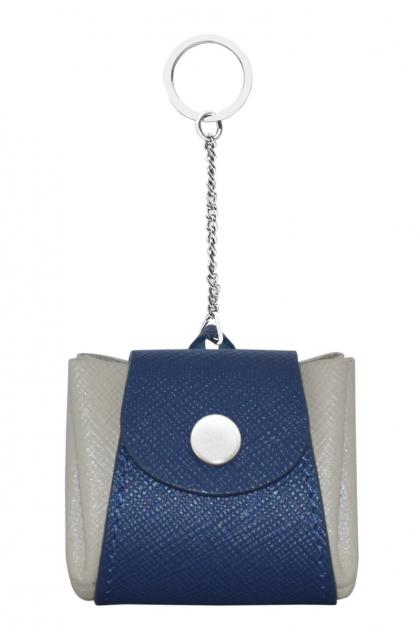 Genuine Leather Blue/O.W. Key Ring