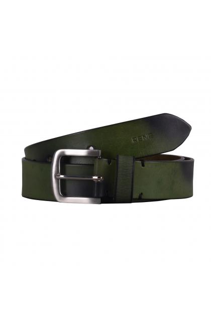 Men Green  Genuine Leather Casual Belt