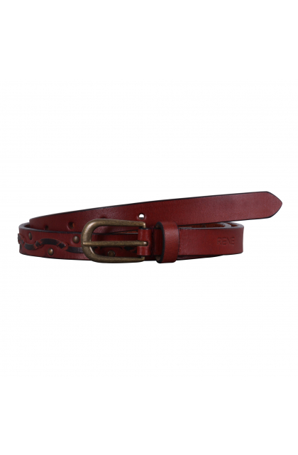 Women Red Genuine Leather Casual Belt