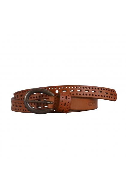Women Tan Genuine Leather Casual Belt
