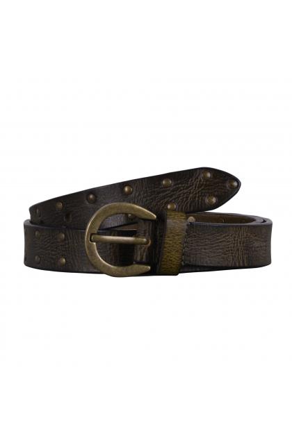 Women Green Genuine Leather Casual Belt