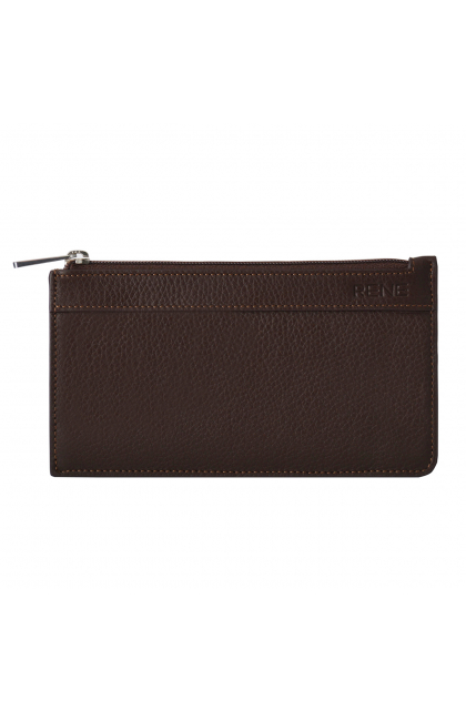 Rene Genuine Leather Brown pouch with key chain