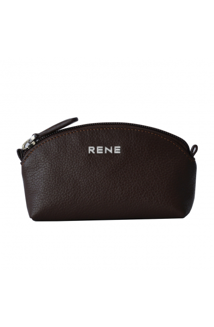 Rene Genuine Leather Brown pouch