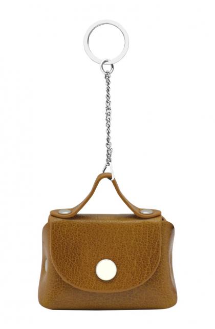 Genuine Leather Mustard Key Ring