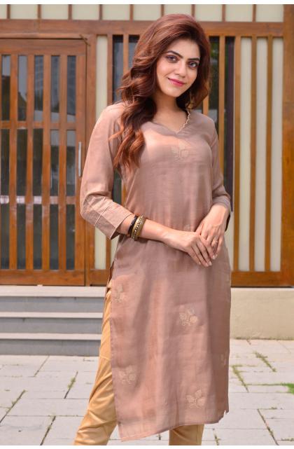 Fawn Silk Blend long kameez