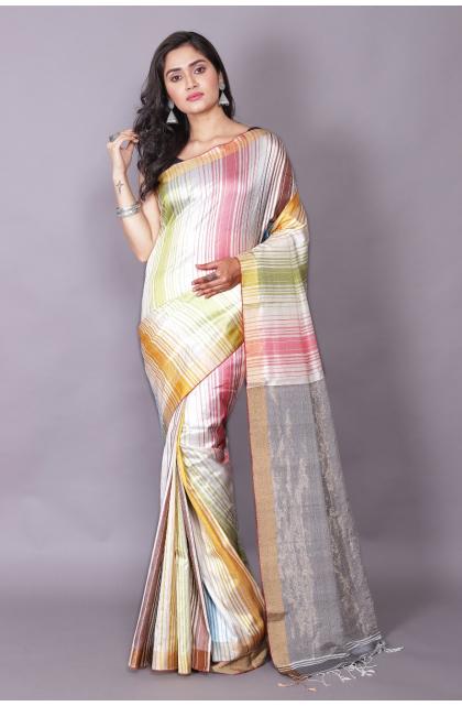 Multicolour Silk saree