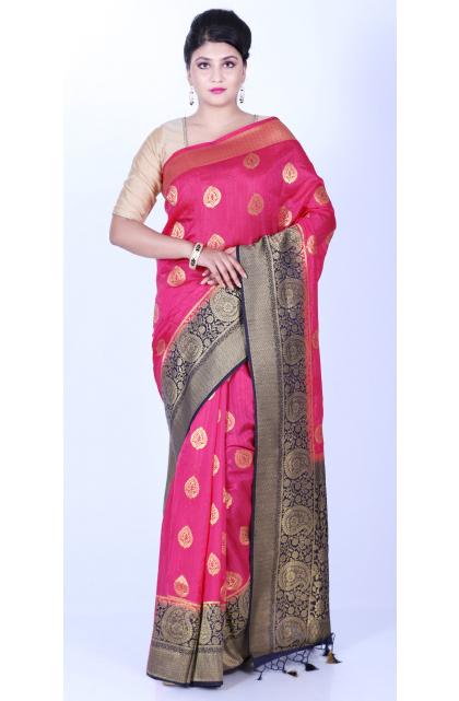 Pink Exclusive Dupion Silk Saree