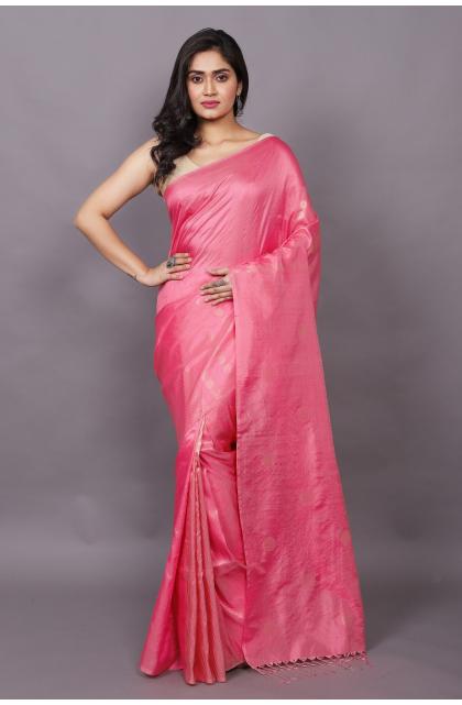 Pink Partywear Pure Silk saree