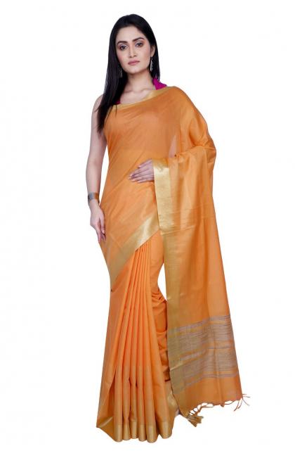 Orange Woven Art Silk Saree
