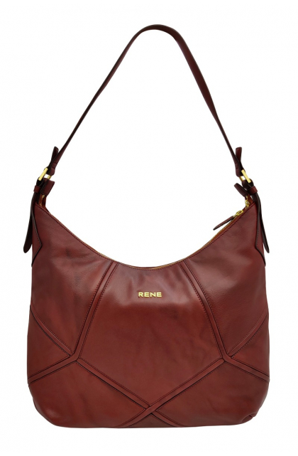 Genuine Leather Wine Ladies Bag