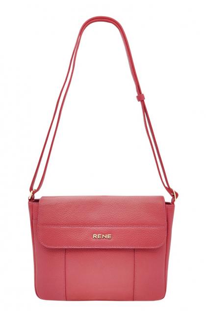 Genuine Leather Pink Sling Bag