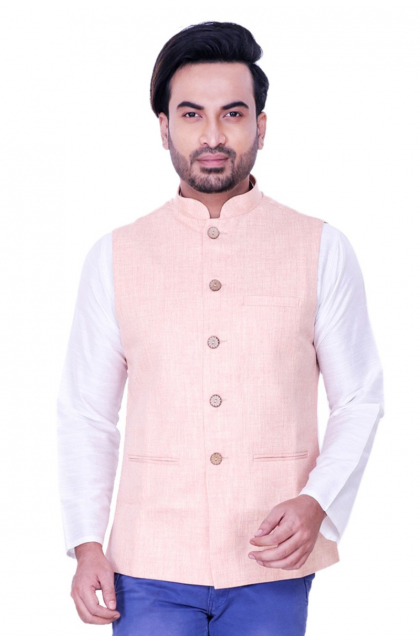Cream Cotton Linen Jacket