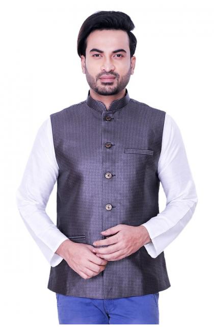 Black Jute Cotton Jacket