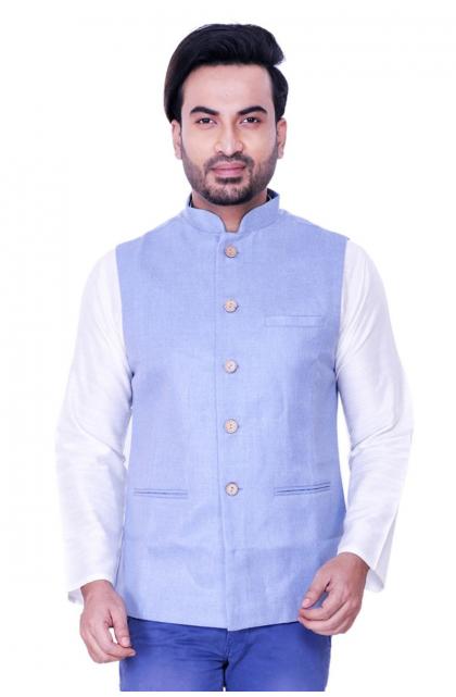 Blue Jute Cotton Jacket