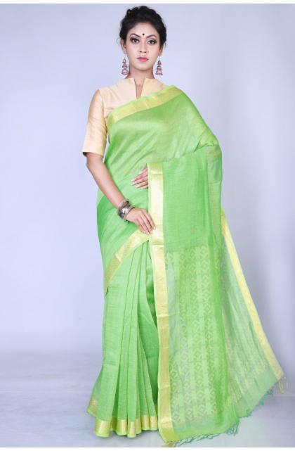 Green Matka Silk Saree
