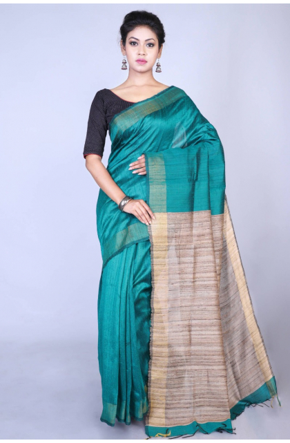 Green Exclusive Dupion Silk Saree