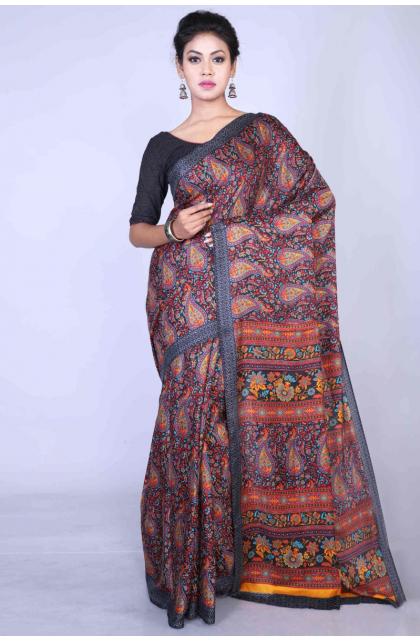 Multicolor Printed Bhagalpuri Dupion Silk Saree