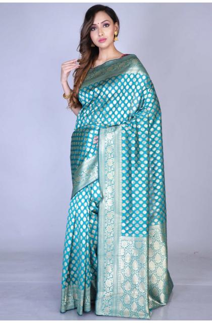 Green Art Silk Opara Saree