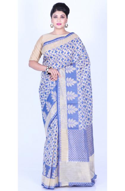 Blue Art Silk Patola Saree