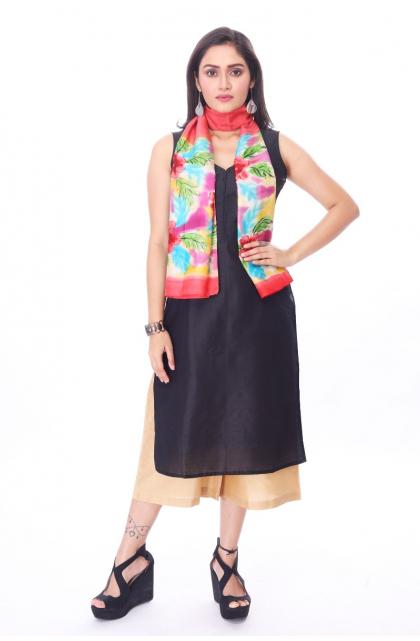 Multi Colour Silk Batik Stole