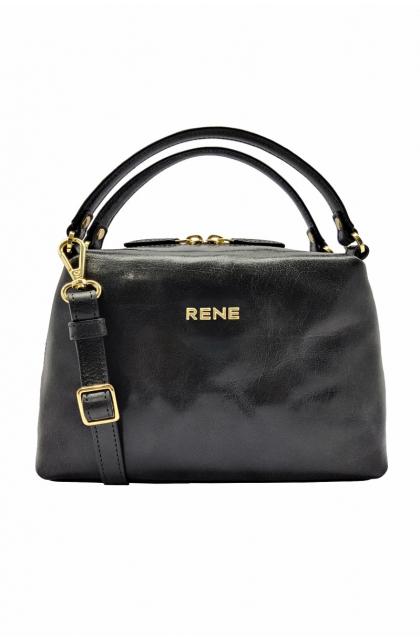 Genuine Leather Black Ladies Bag