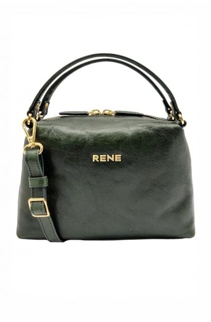 Genuine Leather Bottle Green Ladies Bag