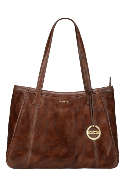 Genuine Leather Lite Brown Ladies Bag
