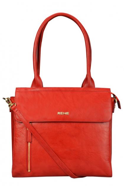 Genuine Leather Red Ladies Bag