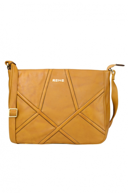 Genuine Leather Yellow Ladies Bag