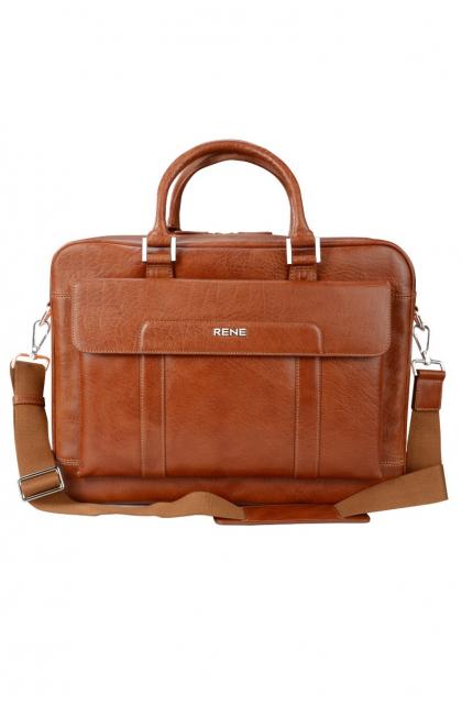 Genuine Leather Tan Professional Bag