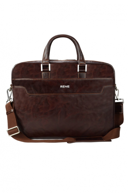 Genuine Leather  Brown  Professional  Bag