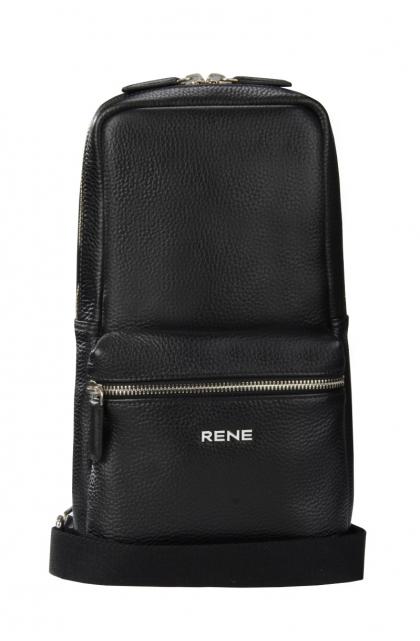 Genuine Leather Black Backpack