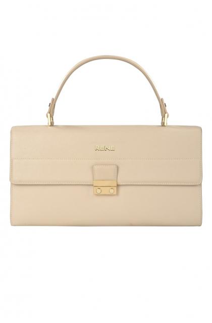 Genuine Leather Off-White Ladies Bag