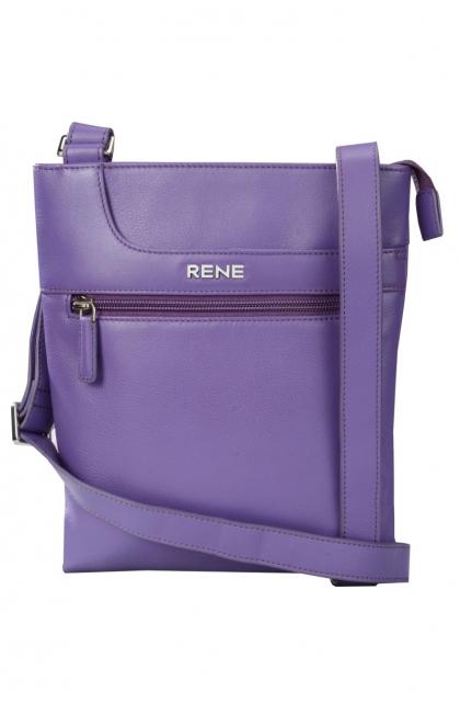 Genuine Leather Purple Sling Bag